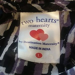 Two Hearts Maternity Tops - Sheer maternity top